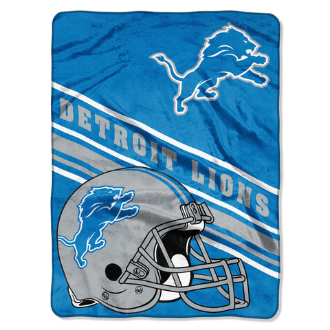 NFL Detroit Lions 60 x 80 Large Plush Raschel Throw Blanket - Bed, Bath, And My Team