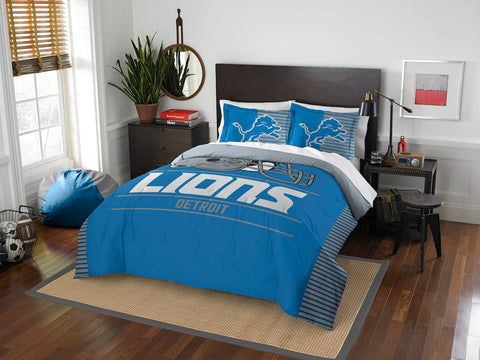 Detroit Lions queen/full comforter and 2 shams