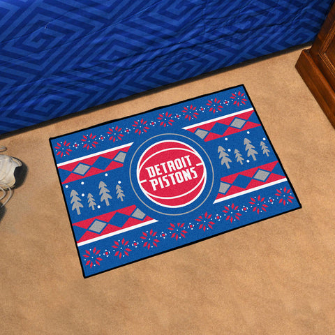 NBA Detroit Pistons CHRISTMAS SWEATER Starter Rug - Bed, Bath, And My Team