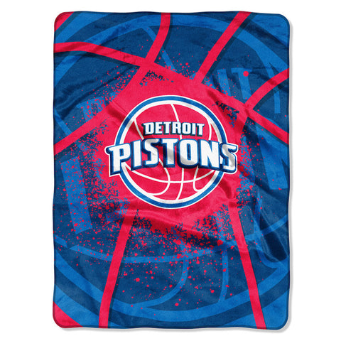 NBA Detroit Pistons 60 x 80 Large Plush Raschel Throw Blanket - Bed, Bath, And My Team