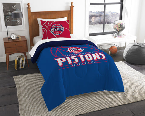 NBA Detroit Pistons Twin Comforter and Pillow Sham - Bed, Bath, And My Team