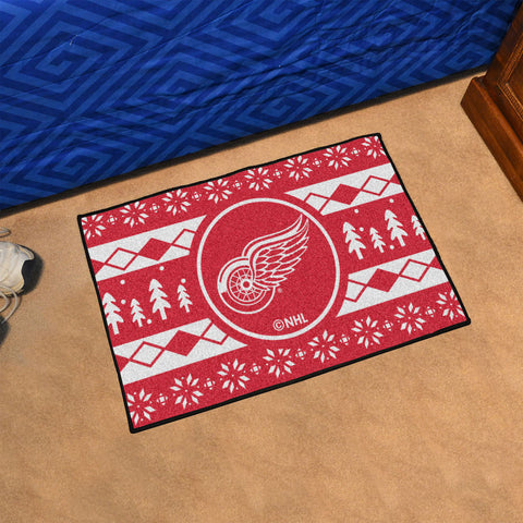 NHL Detroit Red Wings CHRISTMAS SWEATER Starter Rug - Bed, Bath, And My Team