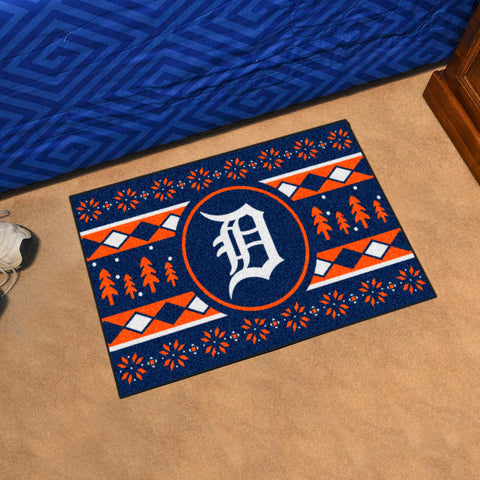 Detroit Tigers Holiday Sweater Rug