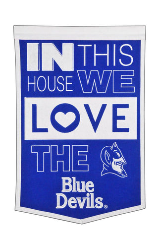 NCAA Duke Blue Devils HOME Hanging Wool Banner - Bed, Bath, And My Team
