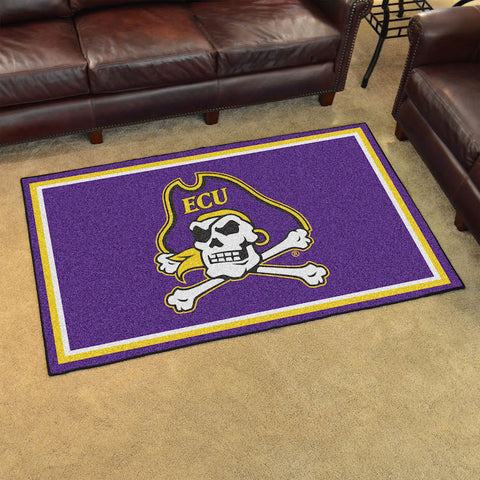 NCAA East Carolina Pirates 4 X 6 Ft. Area Rug - Bed, Bath, And My Team