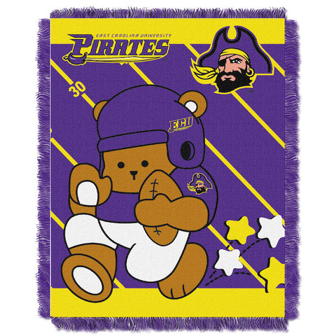 NCAA East Carolina Pirates Baby Blanket - Bed, Bath, And My Team