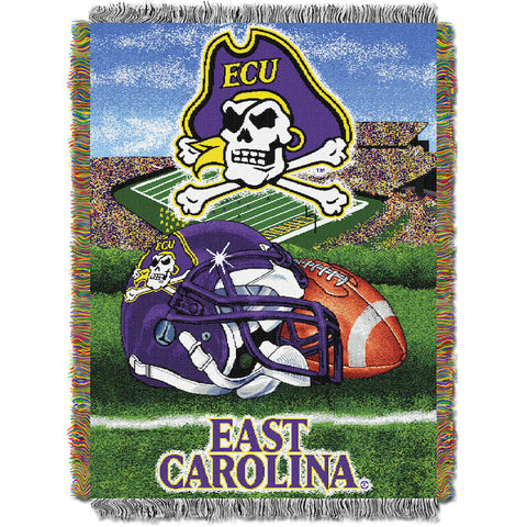 NCAA East Carolina Pirates HOME FIELD ADVANTAGE Tapestry - Bed, Bath, And My Team