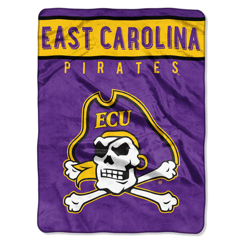 NCAA East Carolina Pirates 60 x 80 Large Plush Raschel Throw Blanket - Bed, Bath, And My Team