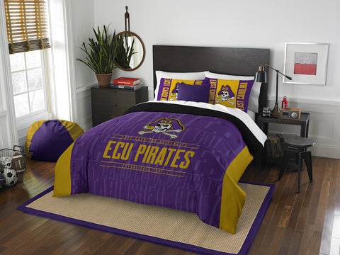 NCAA East Carolina Pirates Queen/Full Comforter and Sham Set - Bed, Bath, And My Team