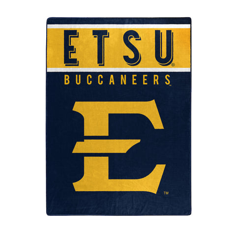 NCAA East Tennessee State Buccaneers 60 x 80 Large Plush Raschel Throw Blanket - Bed, Bath, And My Team