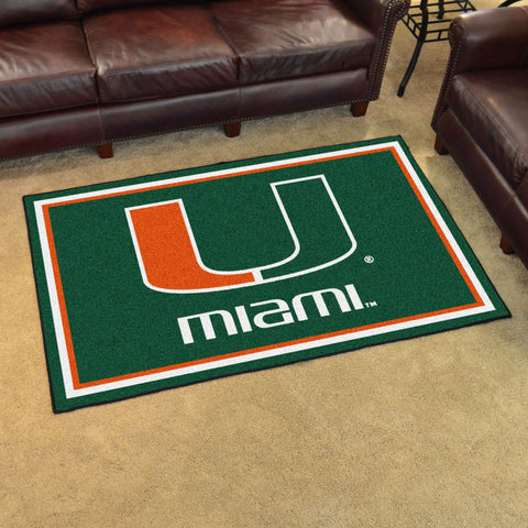 NCAA Miami Hurricanes 4 X 6 Ft. Area Rug - Bed, Bath, And My Team