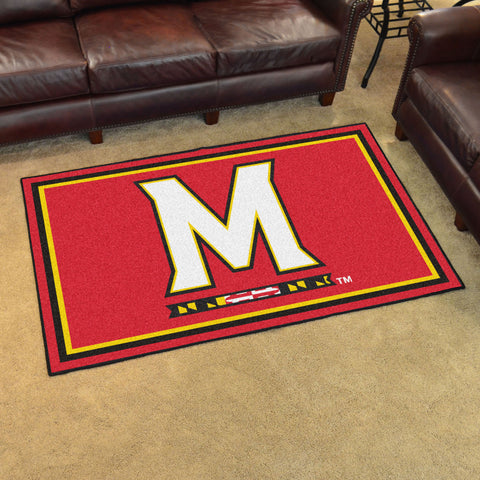 NCAA Maryland Terrapins 4 X 6 Ft. Area Rug - Bed, Bath, And My Team