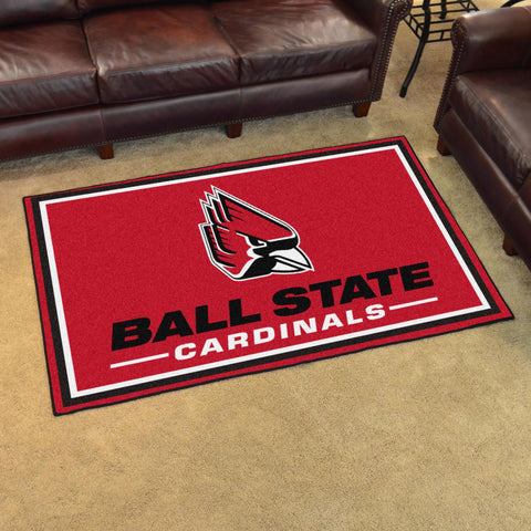 NCAA Ball State Cardinals 4 X 6 Ft. Area Rug - Bed, Bath, And My Team
