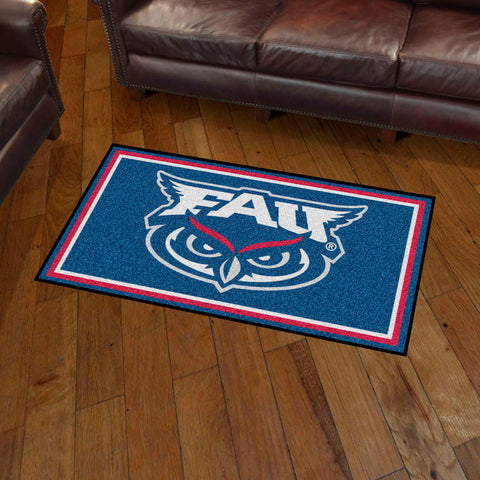 NCAA Florida Atlantic Owls 3 X 5 Ft. Plush Area Rug - Bed, Bath, And My Team