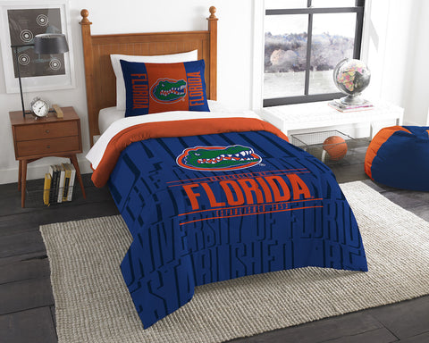 NCAA Florida Gators Twin Comforter and Pillow Sham - Bed, Bath, And My Team
