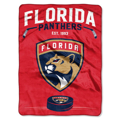 Florida Panthers large plush blanket
