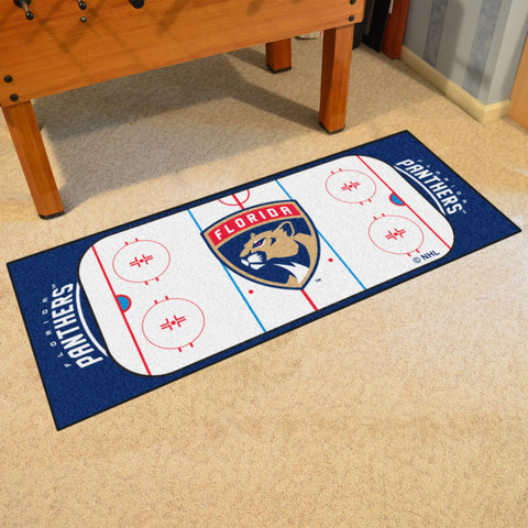 Florida Panthers Hockey Rink Carpet Runner Rug