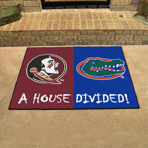 NCAA Rivalry Rug Florida State Seminoles / Florida Gators House Divided Mat - Bed, Bath, And My Team
