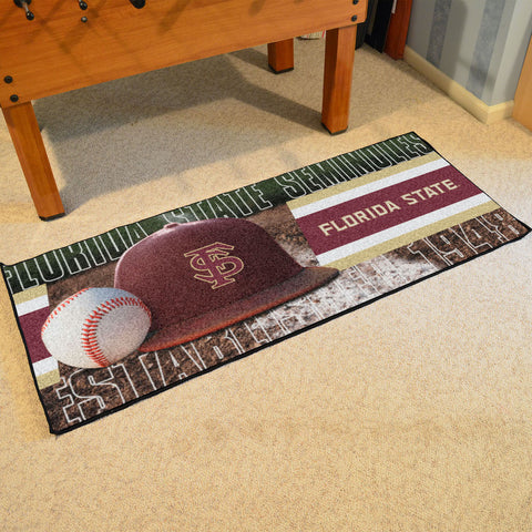 NCAA Florida State Seminoles Baseball Logo Carpet Runner Rug - Bed, Bath, And My Team