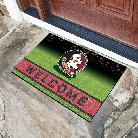 NCAA Florida State Seminoles Recycled Rubber CRUMB Doormat - Bed, Bath, And My Team