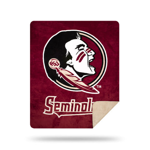 NCAA Florida State Seminoles 60 x 72 DENALI Silver Knit Throw Blanket - Bed, Bath, And My Team