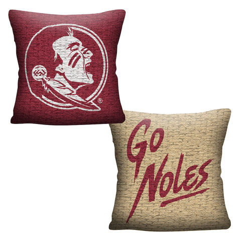 NCAA Florida State Seminoles INVERT Throw Pillow - Bed, Bath, And My Team
