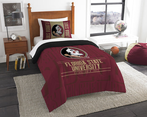 NCAA Florida State Seminoles Twin Comforter and Pillow Sham - Bed, Bath, And My Team