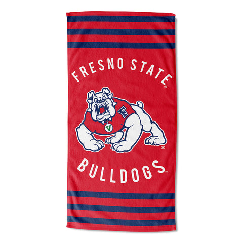 NCAA Fresno State Bulldogs Beach Towel - Bed, Bath, And My Team