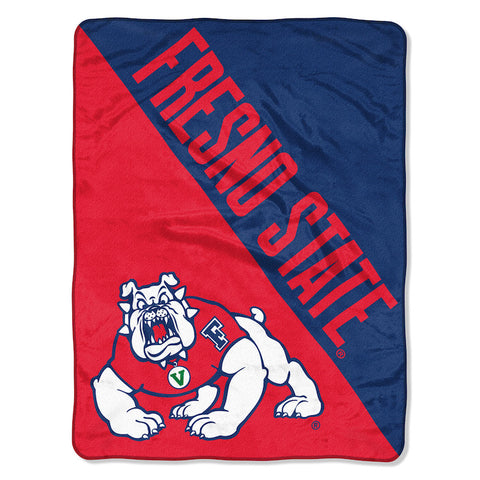 NCAA Fresno State Bulldogs Micro Raschel Throw - Bed, Bath, And My Team