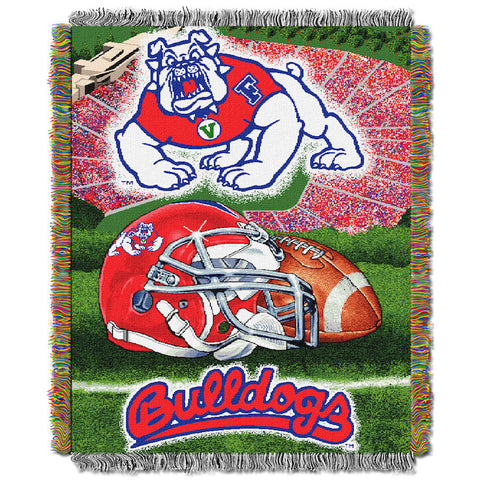 NCAA Fresno State Bulldogs HOME FIELD ADVANTAGE Tapestry - Bed, Bath, And My Team