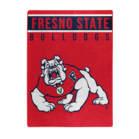 NCAA Fresno State Bulldogs 60 x 80 Large Plush Raschel Throw Blanket - Bed, Bath, And My Team