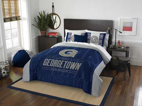 NCAA Georgetown Hoyas Queen/Full Comforter and Sham Set - Bed, Bath, And My Team