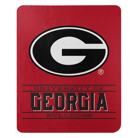 NCAA Georgia Bulldogs Fleece Throw ~ 50 x 60 - Bed, Bath, And My Team