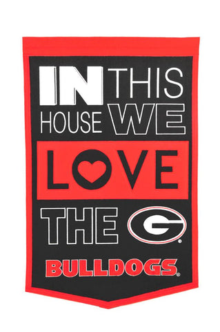 NCAA Georgia Bulldogs HOME Hanging Wool Banner - Bed, Bath, And My Team