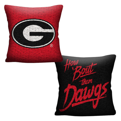 NCAA Georgia Bulldogs INVERT Throw Pillow - Bed, Bath, And My Team