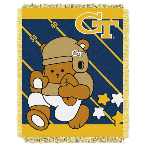 NCAA Georgia Tech Yellow Jackets Baby Blanket - Bed, Bath, And My Team