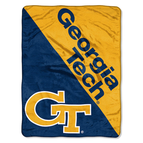 NCAA Georgia Tech Yellow Jackets Micro Raschel Throw - Bed, Bath, And My Team