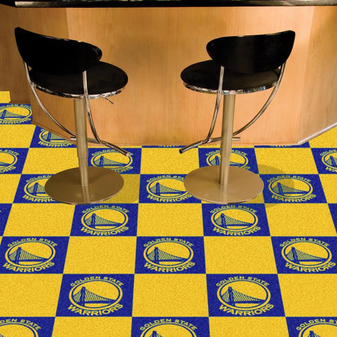 NBA Golden State Warriors Carpet Tiles - Bed, Bath, And My Team