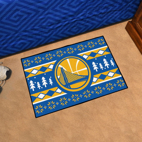 NBA Golden State Warriors CHRISTMAS SWEATER Starter Rug - Bed, Bath, And My Team