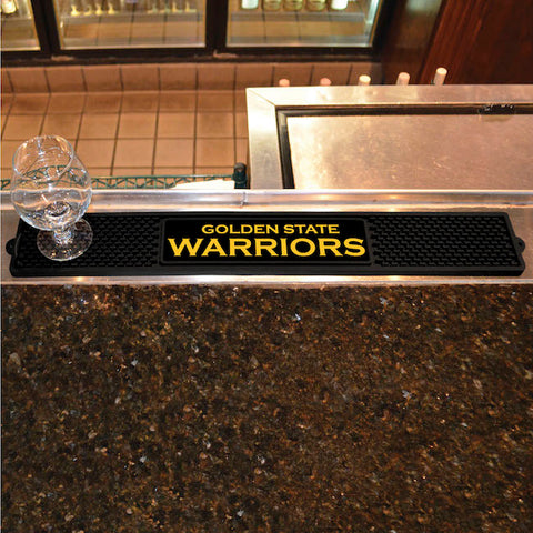 NBA Golden State Warriors Bar and Drink Mat - Bed, Bath, And My Team