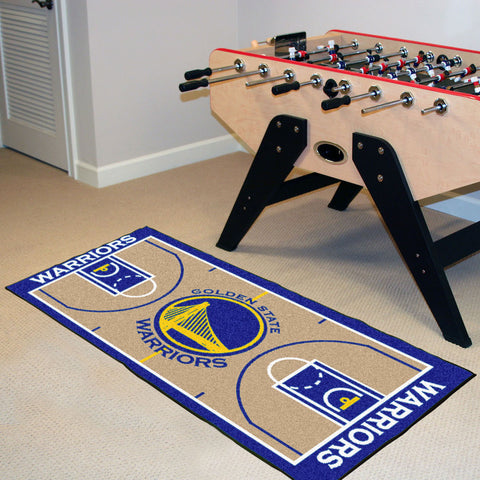 NBA Golden State Warriors Basketball Court Carpet Runner Rug - Bed, Bath, And My Team