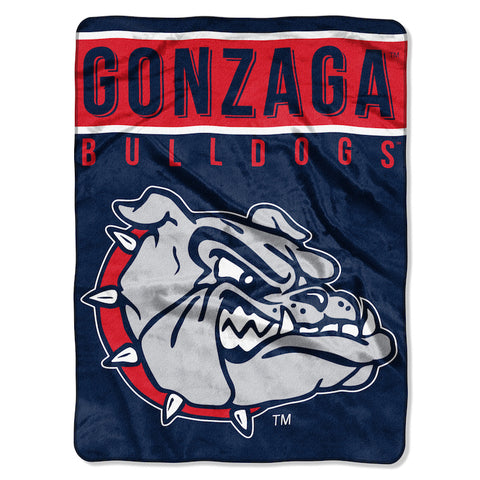 NCAA Gonzaga Bulldogs 60 x 80 Large Plush Raschel Throw Blanket - Bed, Bath, And My Team
