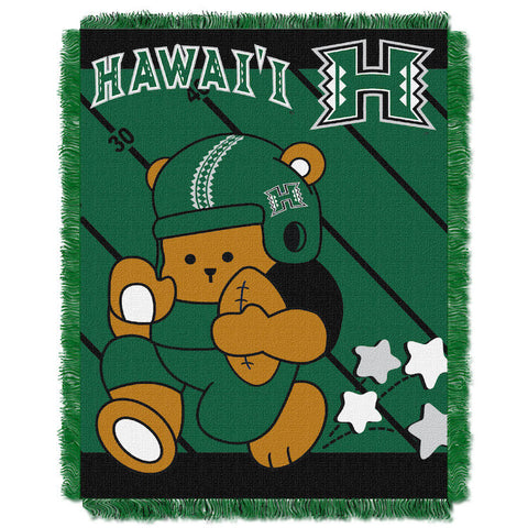 NCAA Hawaii Warriors Baby Blanket - Bed, Bath, And My Team