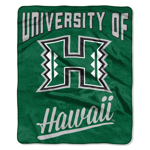 NCAA Hawaii Warriors 50 x 60 Alumni Raschel Throw Blanket - Bed, Bath, And My Team
