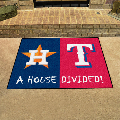 Houston AstrosTexas Rangers Rivalry Rug