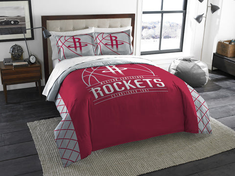 NBA Houston Rockets Queen/Full Comforter and Sham Set - Bed, Bath, And My Team