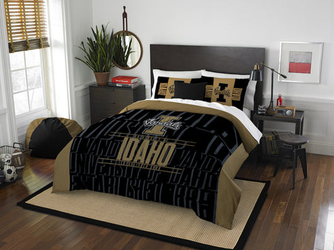 NCAA Idaho Vandals Queen/Full Comforter and Sham Set - Bed, Bath, And My Team