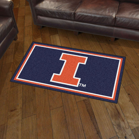 NCAA Illinois Fighting Illini 3 X 5 Ft. Plush Area Rug - Bed, Bath, And My Team