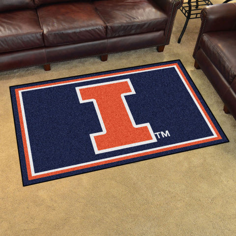 NCAA Illinois Fighting Illini 4 X 6 Ft. Area Rug - Bed, Bath, And My Team