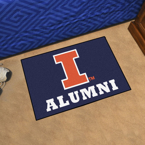 NCAA Illinois Fighting Illini ALUMNI Starter Rug - Bed, Bath, And My Team